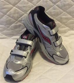 SAUCONY GRID COHESION 4 Tennis Shoes Gray Red Boys Youth siz