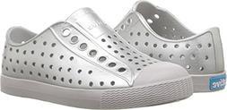 Native Kids Shoes Baby Girl's Jefferson Metallic  Silver Met
