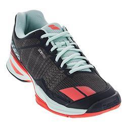 Babolat Women's jet team All Court tennis shoe, Grey/Red/Blu