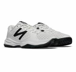 New Balance KC996 Youth Tennis Shoe , White/Silver