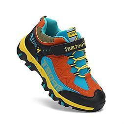 Feetmat Kids Hiking Shoes Running Sneaker for Boys Girls Bla