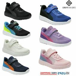 DREAM PAIRS Kids Sneakers Boys Girls Mesh Strap Sporty Youth