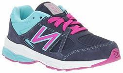 NEW BALANCE KJ888NAP 11 W NIB $55 GIRLS BLUE PINK TENNIS SHO