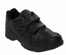 New Balance KV624 Kids All Black Tennis School Shoes Leather