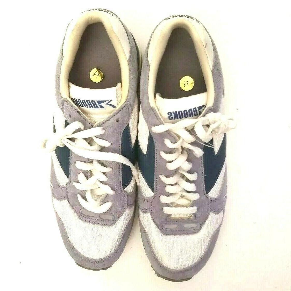 Brooks 7 Shoes Size Blue White Vintage
