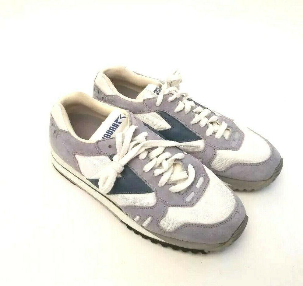 Brooks Running Tennis Shoes Men's Size Blue Grey Vintage