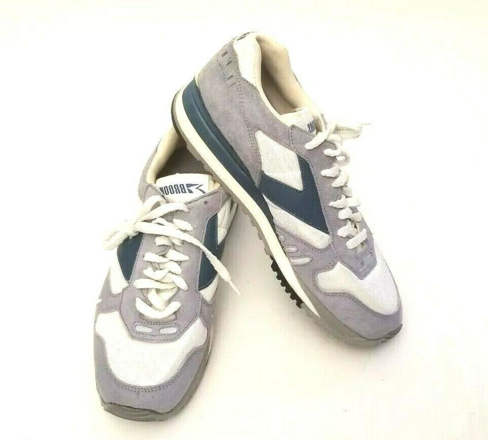 Brooks 7 Running Tennis Shoes Blue White NEW Vintage Sneaker
