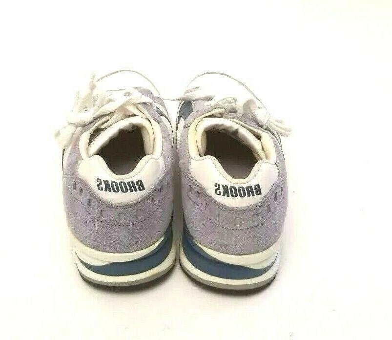 Brooks Shoes Men's 7.5 Blue White Vintage Sneaker