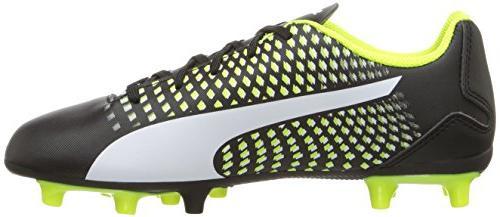 PUMA Kids' FG Soccer-Shoes,Puma Black-Puma Yellow,4 Kid