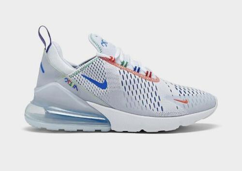air max 270 casual shoes white blue