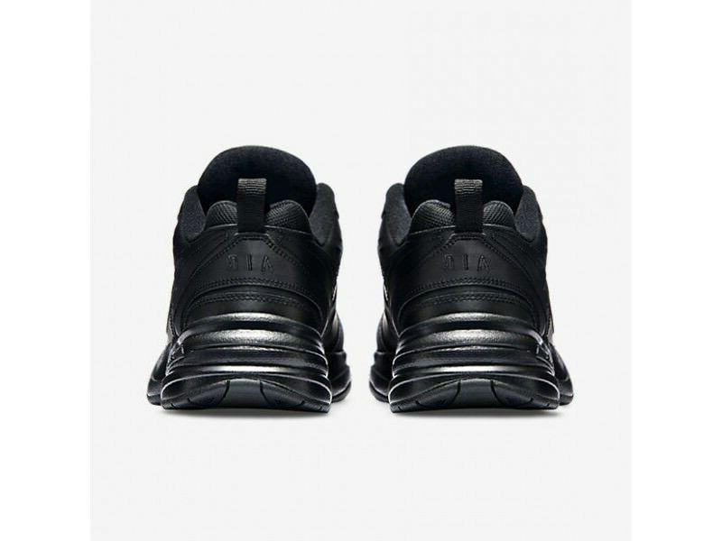 Nike Air Monarch Black Leather For Men's New 415445