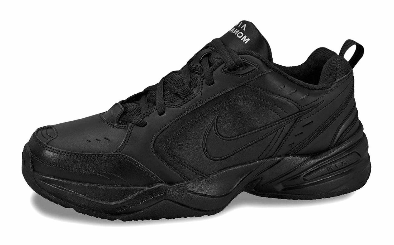 Nike Air Monarch IV Black, Black Mens Training Sneakers Tenn