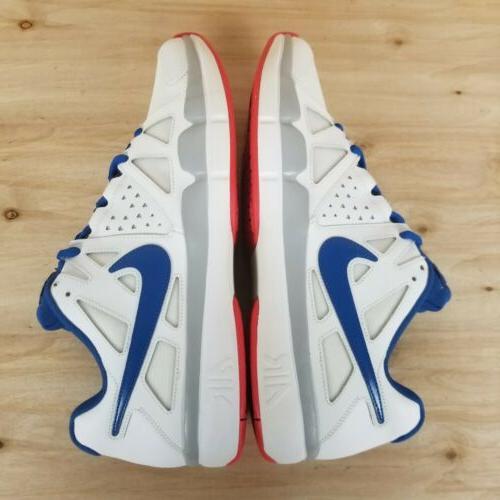NIKE TENNIS SHOES RED/WHITE/BLUE MEN'S