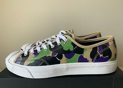 all star jack purcell leather camo print