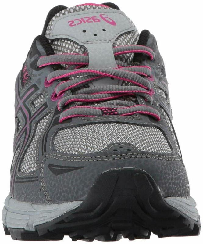 ASICS Gel-Venture 6 Running-Shoes,Carbon/Black/Pink Peacock,8