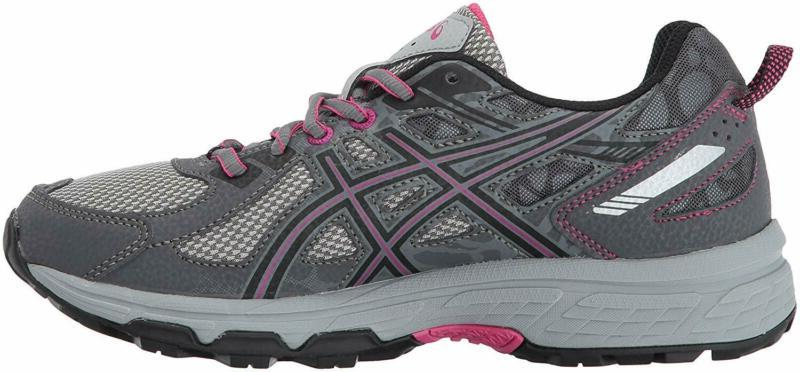 ASICS Running-Shoes,Carbon/Black/Pink Medium