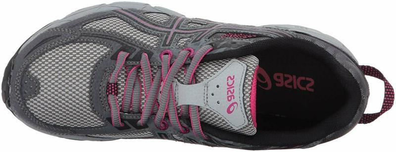 ASICS Gel-Venture Running-Shoes,Carbon/Black/Pink