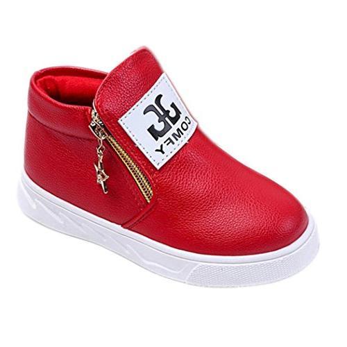 axinke kids zipper ankle boots