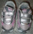 Saucony Baby Girls Pink Silver Leather Tennis Shoes 7.5 Extr