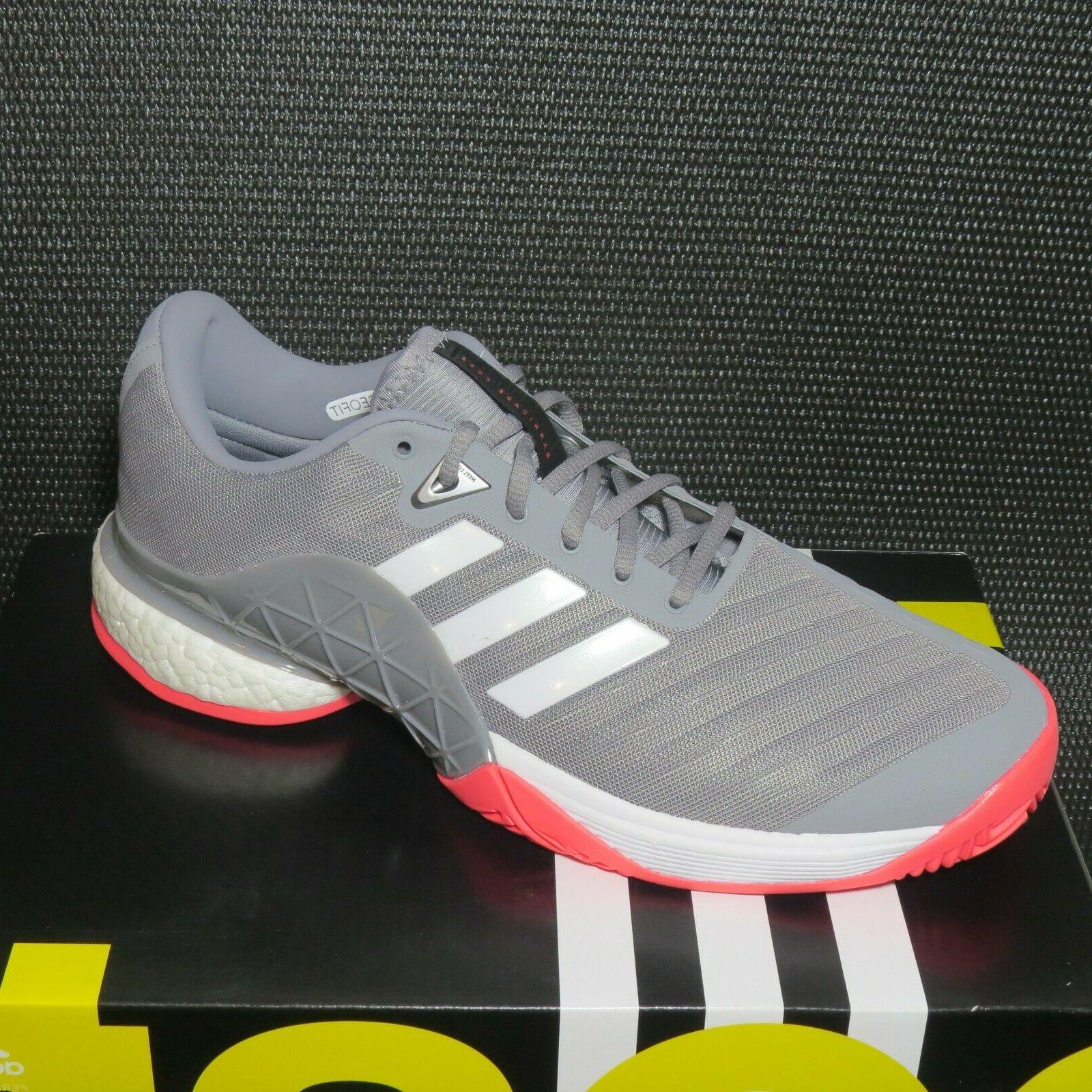 adidas 2018 AH2094 Size Tennis Shoes Grey/White/Pink NIB