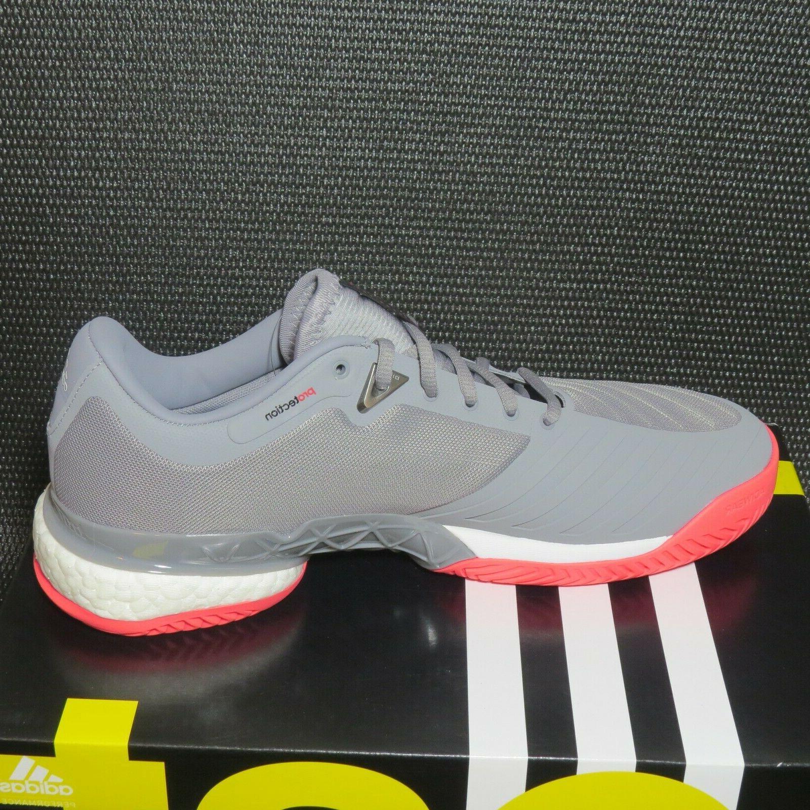 adidas AH2094 Tennis Shoes Grey/White/Pink NIB