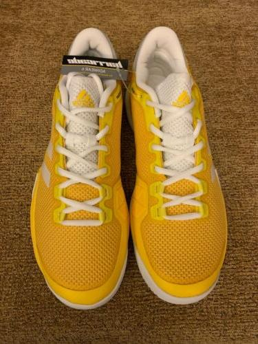 Adidas Barricade Men's Tennis Shoes 10 Yellow Racquet Racket BY1623