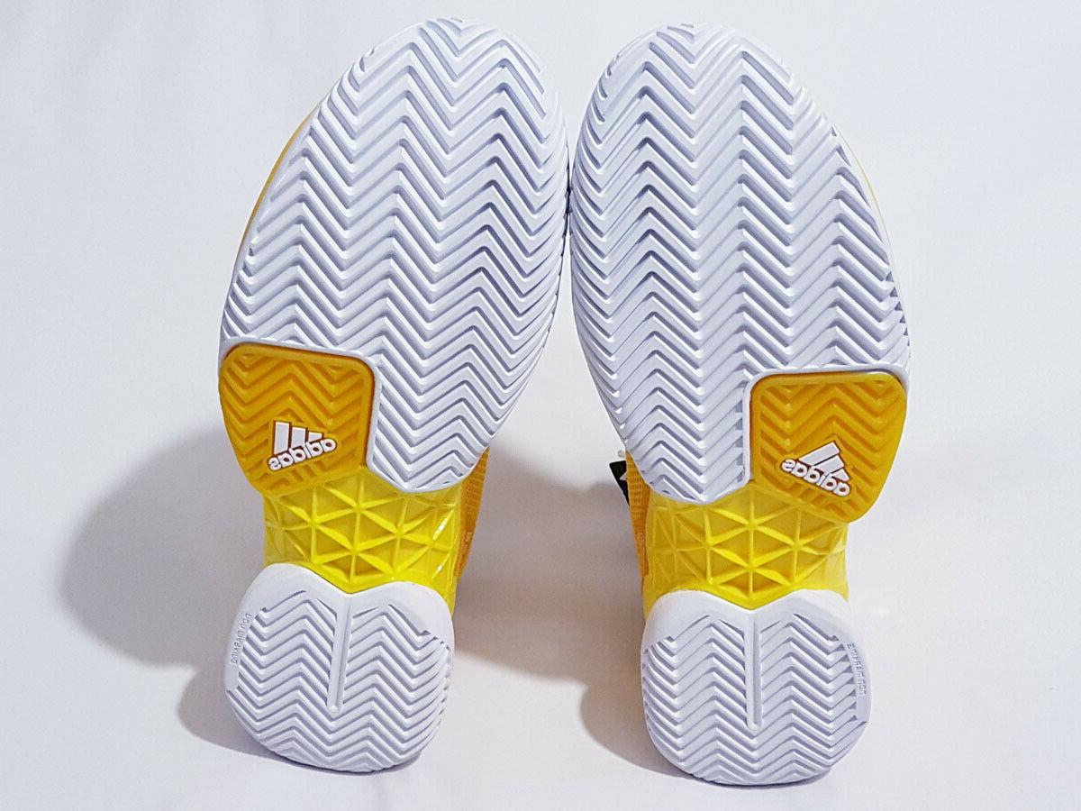 Adidas Barricade Tennis Shoes Yellow/White