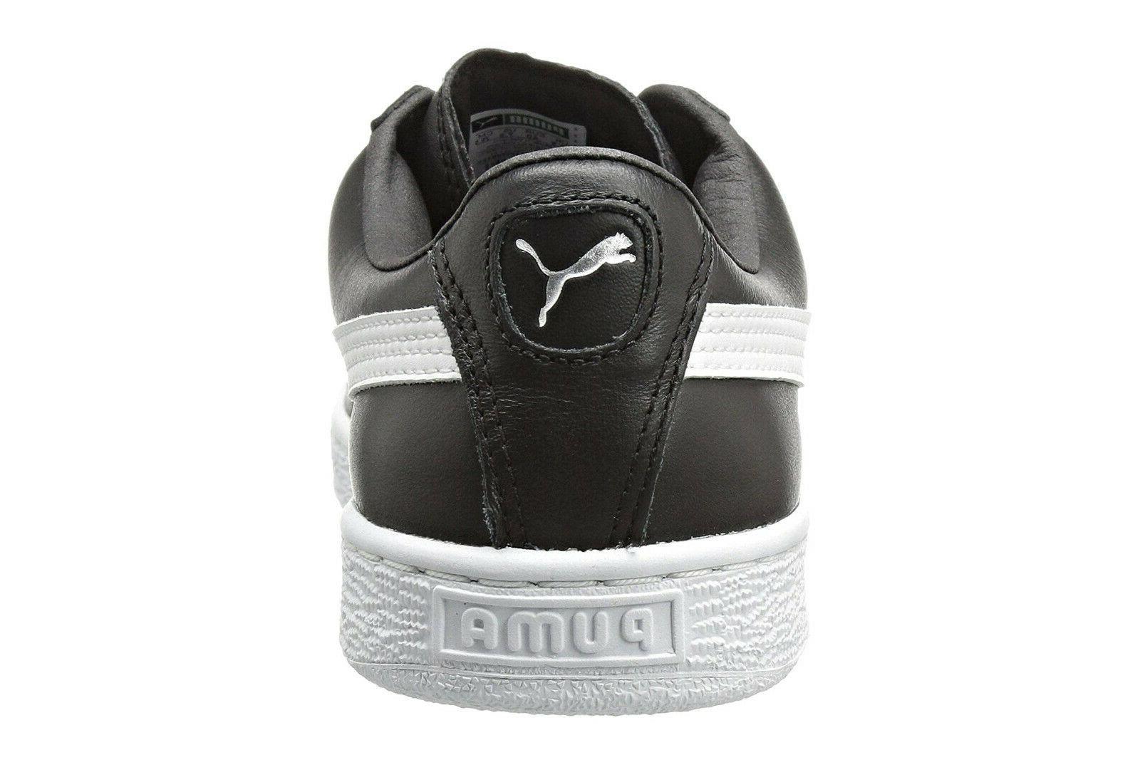 PUMA Basket Classic LFS Black White Sneakers Tennis Shoes Item 21