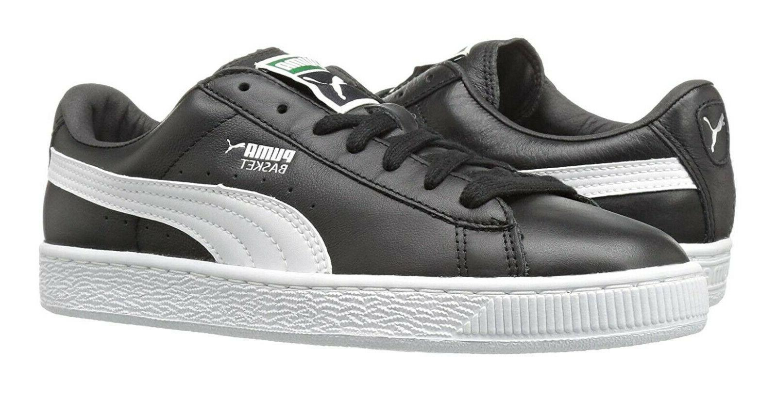 PUMA Basket Classic LFS Black White Mens Sneakers Tennis Shoes 21