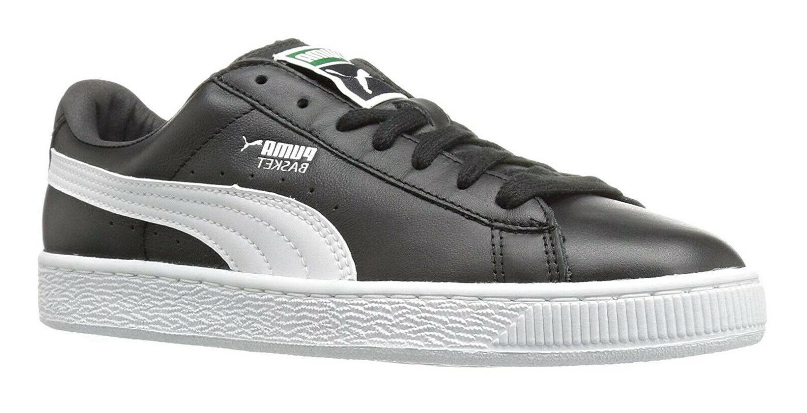 basket classic lfs black white mens sneakers