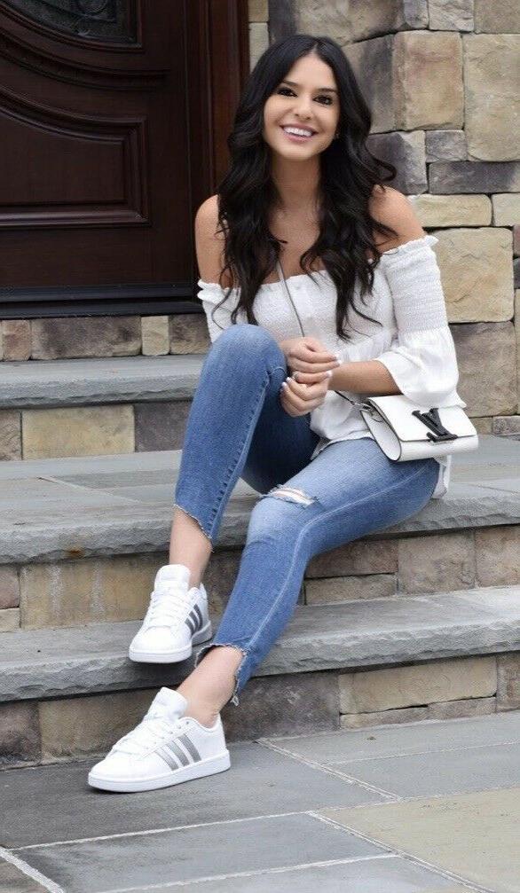 Adidas CF Advantage Women's Tennis Shoes Size 5 white/silver