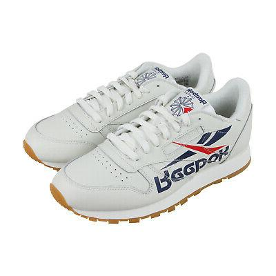 classic leather 3am mens white leather athletic