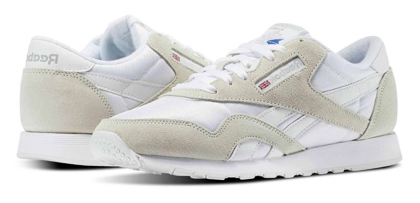 Reebok Classic Nylon Light Grey, White Mens Running Tennis S