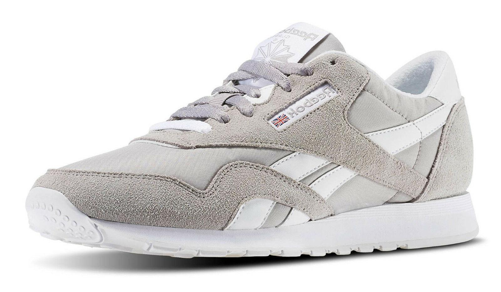 Reebok Classic Nylon Whispher Grey, White Mens Running Tenni