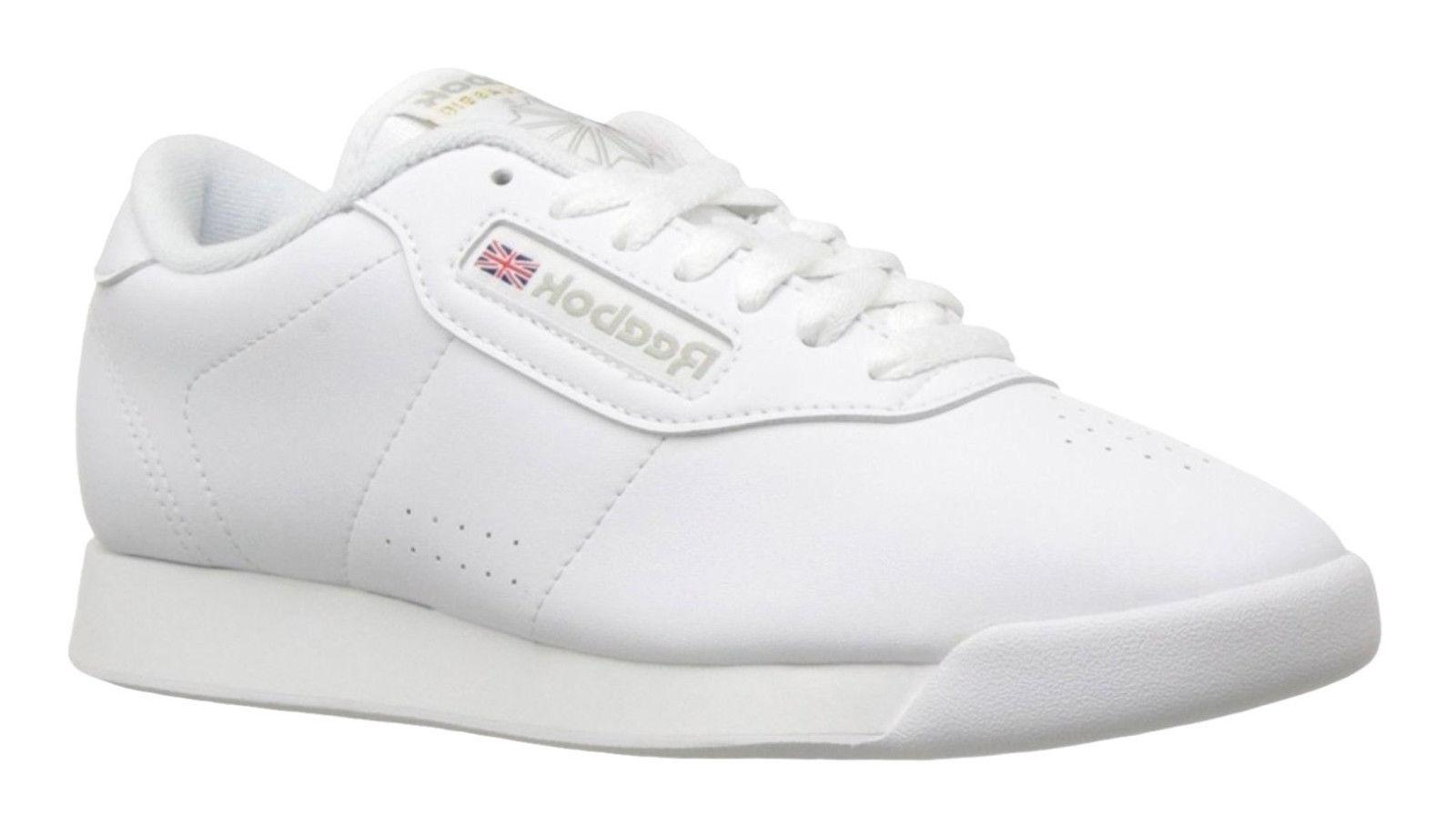 Reebok Classic Princess White Womens Running Tennis Shoes