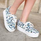 Cute Womens Creepers Athletic Tennis Sneakers Sport Canvas L