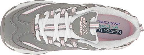 Skechers Memory Fan Grey/White,7.5 M US