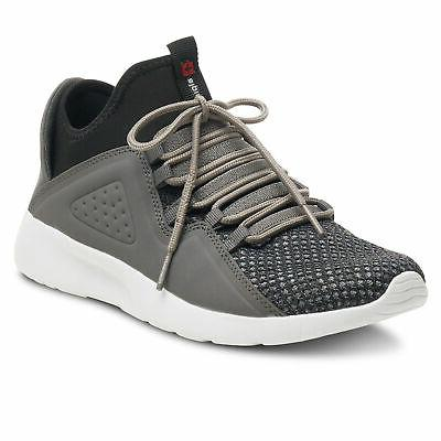 enzo mens fashion sneakers lightweight knit lace