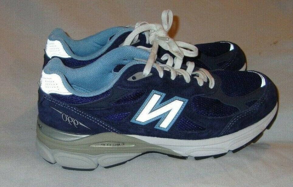 NEW BALANCE HERITAGE 990 SERIES NAVY BLUE ATHLETIC TENNIS SH