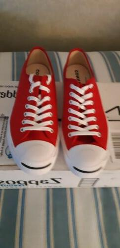 Converse Jack Purcell Tennis Shoes Mens 8.5. Enamel Red.