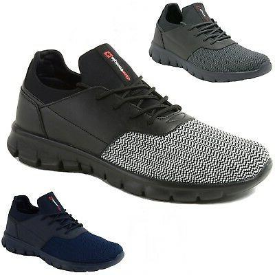 leo men sneakers flex knit tennis shoes