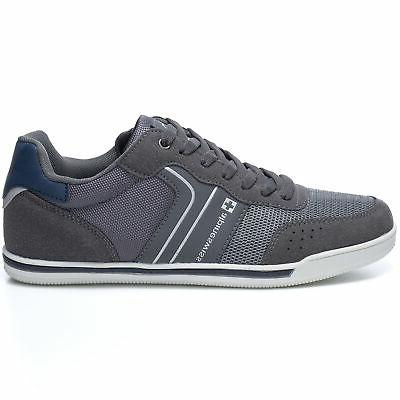 Alpine Swiss Liam Fashion Sneakers Suede Trim Low Up Tennis