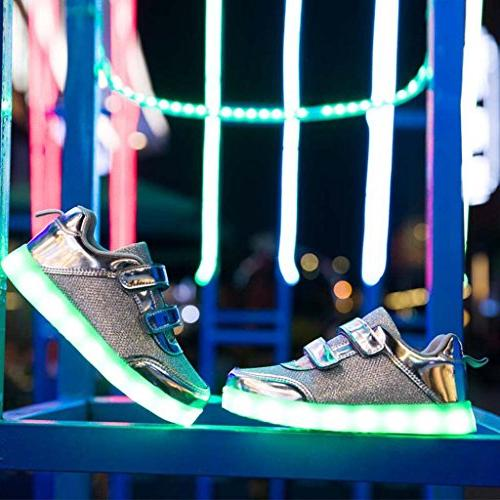 DoGee Light Shoes for Colors Light Toddler Shoes LED Shoes Chargeable Flashing