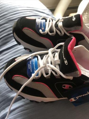 Champion Black Pink Memory Foam Shoe NWT