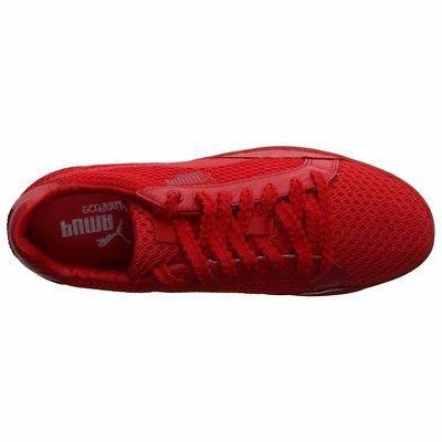Puma Low Stutter Stripe Tennis Red - Womens