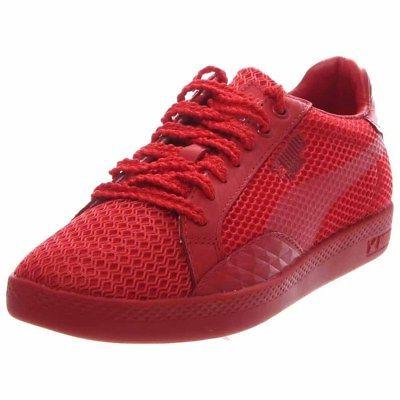 match low stutter stripe tennis shoes red