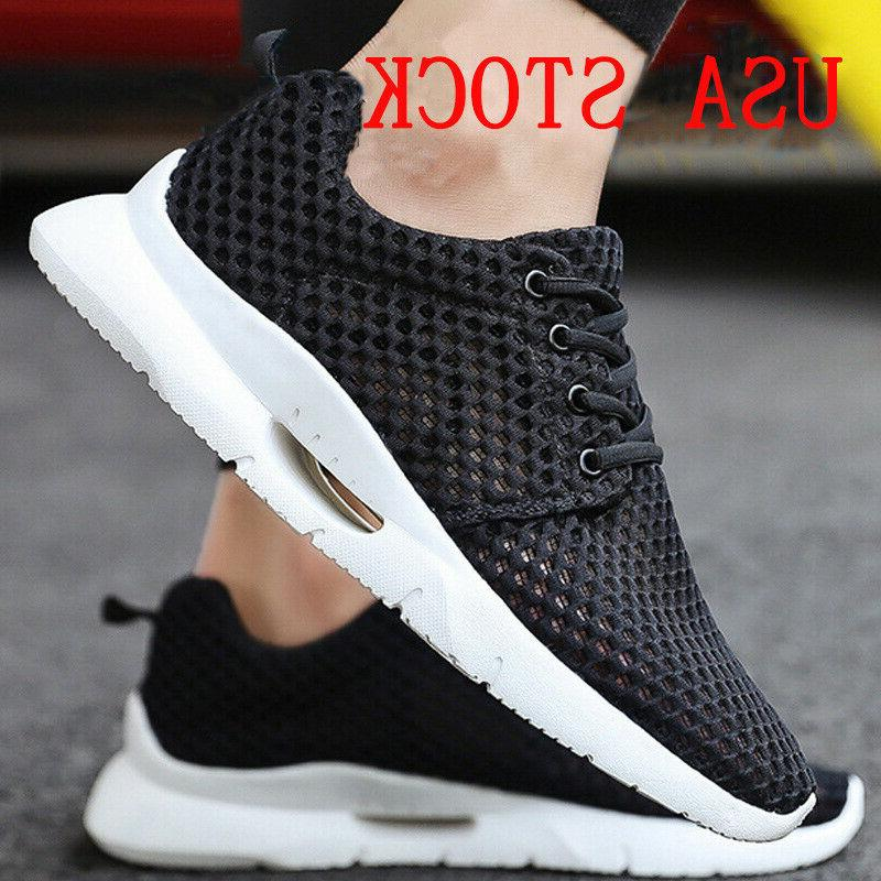 men s casual athletic sneakers knit running