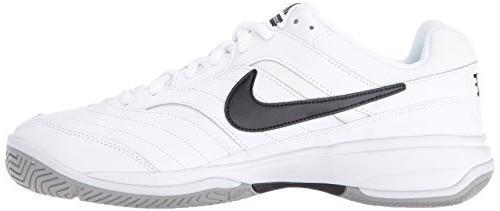 NIKE Court Tennis Shoe, White/Medium Grey/Black, 11 D