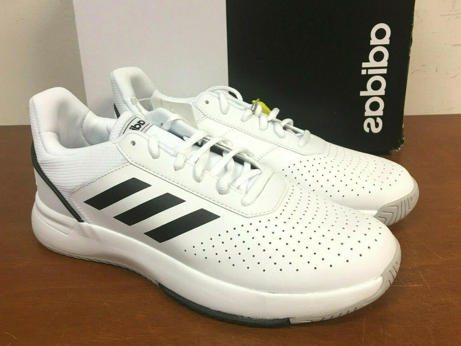 adidas Men's Courtsmash Shoes - WHITE PICK 9F_01