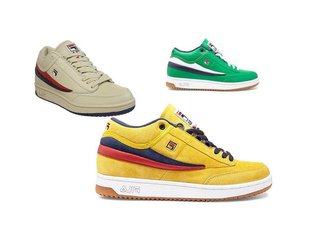 Fila Men's T-1 Tennis Sneakers Classic 80s Style Shoes Retro